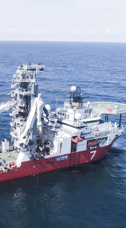 Wintershall Dea support vessel subsea template