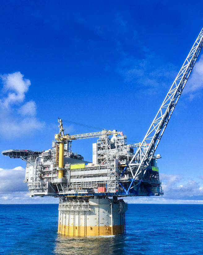 Wintershall Dea Offshoreplattformen Aasta Hansteen