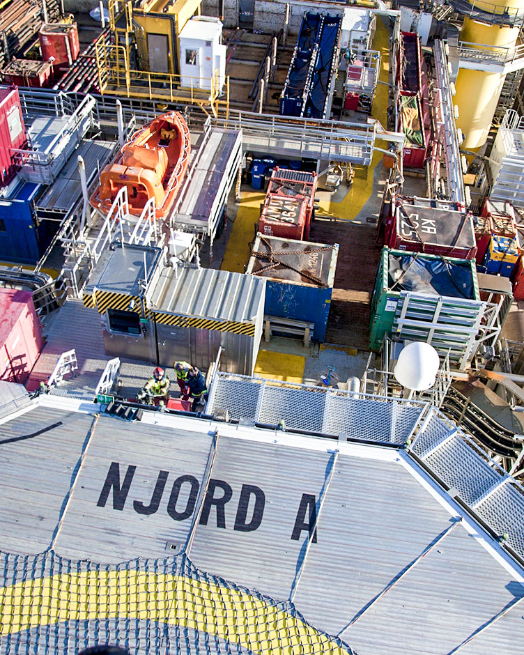 Wintershall Dea Offshore Platform Njord clipping