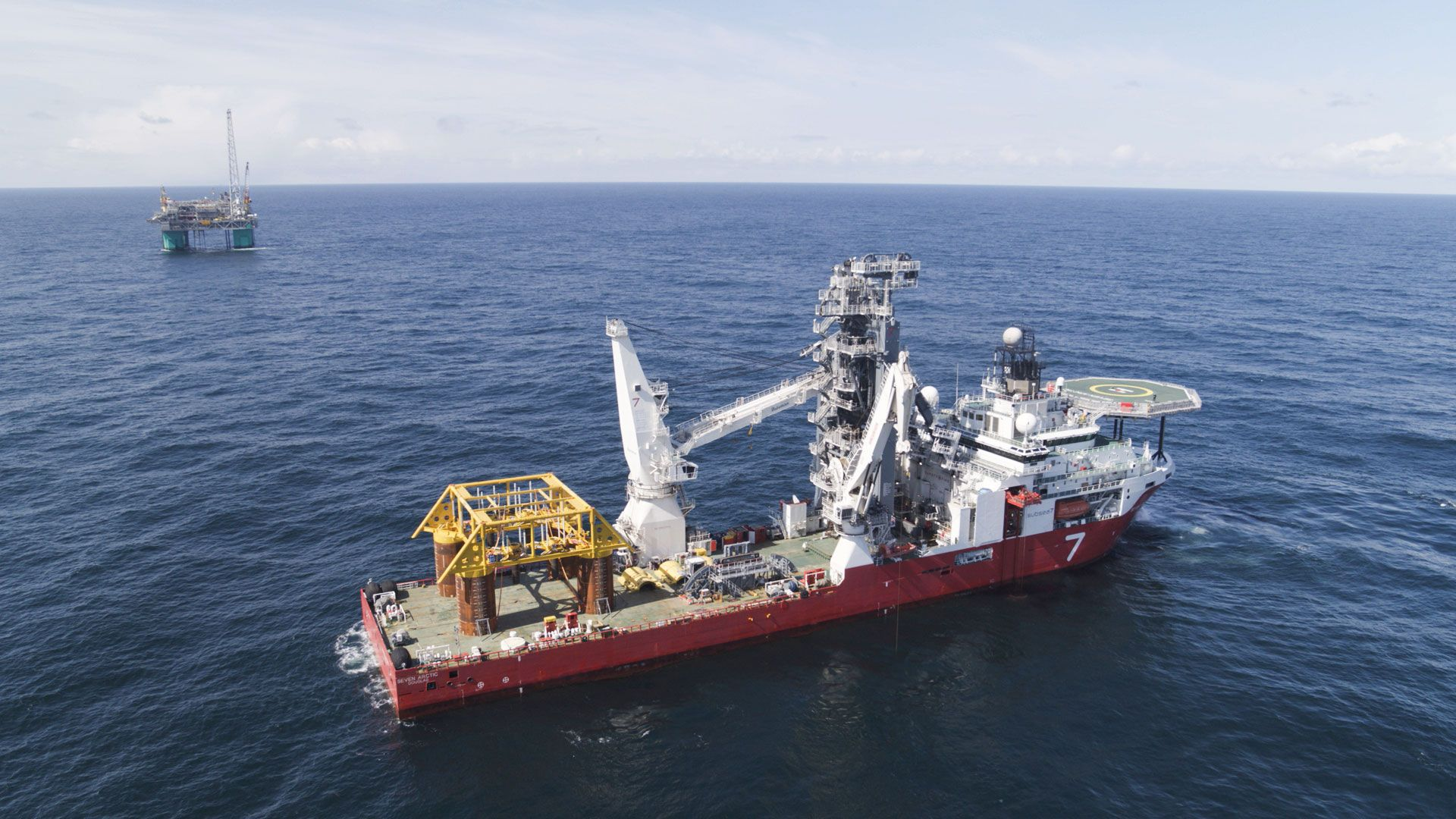 Wintershall Dea platform Gjøa ship Norwegian Sea