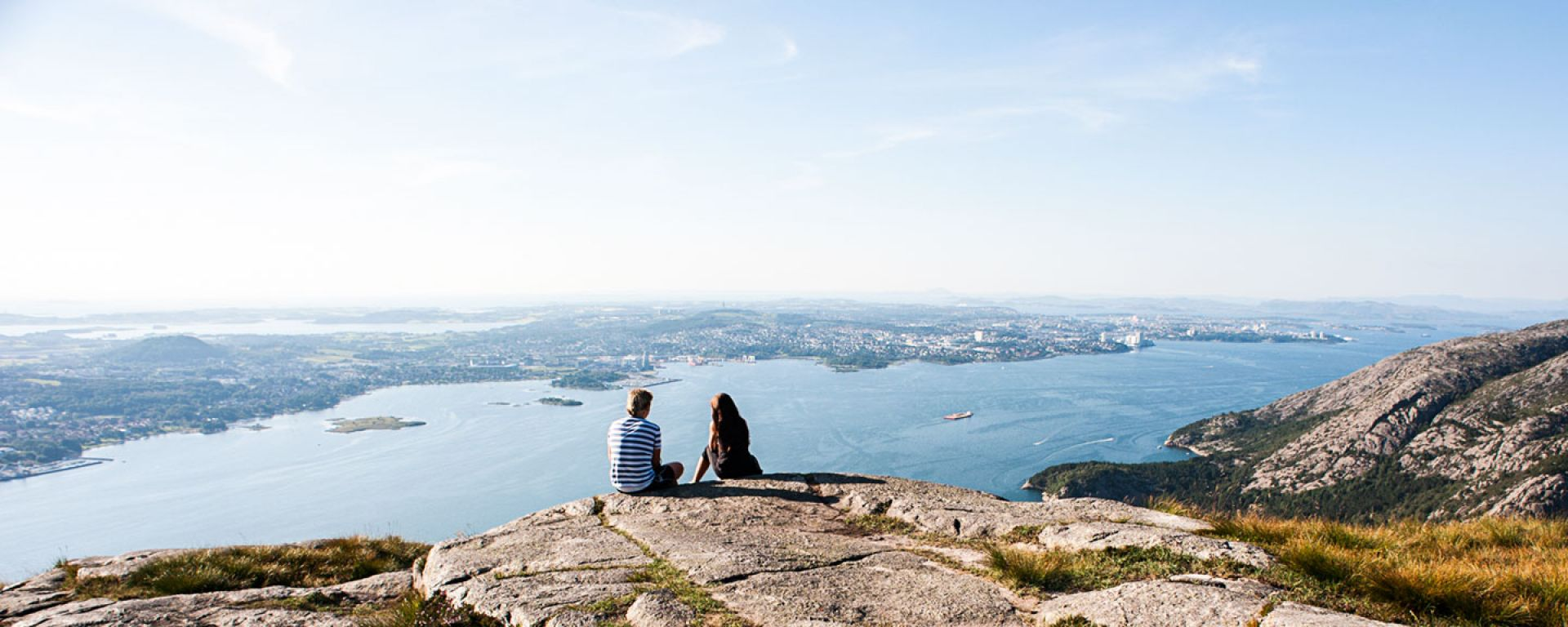 Panoramic view of Stavanger from Dalsnuten Peak in Norway